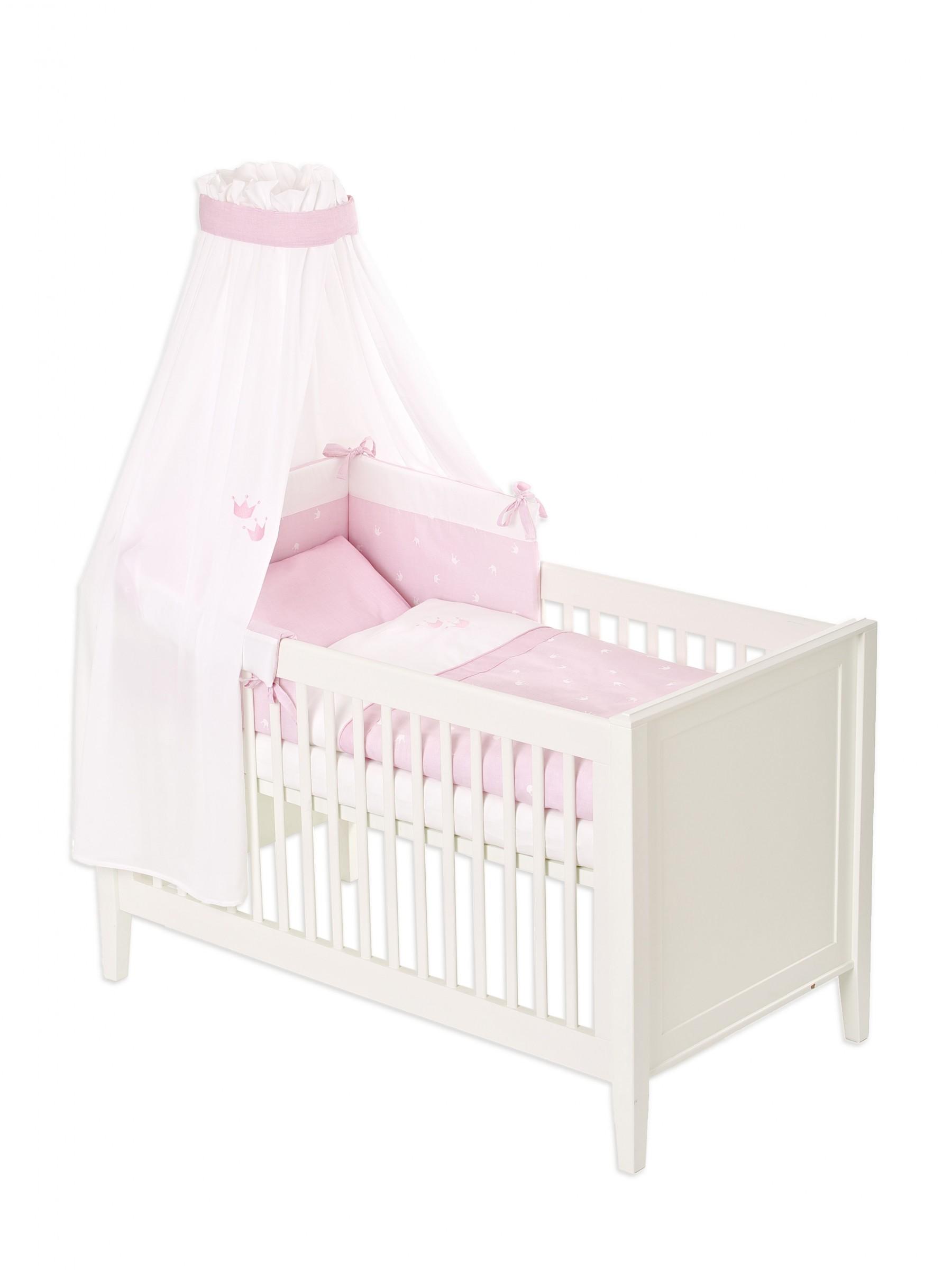 tr umeland bettset farbe krone rosa bettw sche 100 x 135 himmel nestchen neu ebay. Black Bedroom Furniture Sets. Home Design Ideas