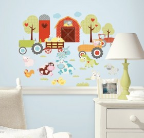 RoomMates Wandsticker Farmland Animals online kaufen