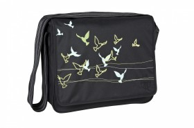 Lässig Messenger Bag Casual Flock of Birds black online kaufen