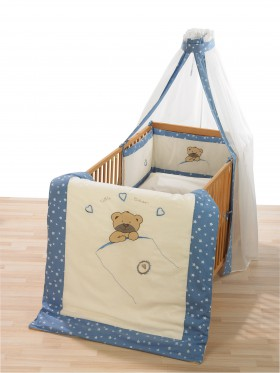 Alvi Bettset Himmelset Applikation Little Bear blau 3-tlg. online kaufen