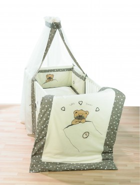 Alvi Bettset Himmelset Applikation Little Bear beige 3-tlg. online kaufen