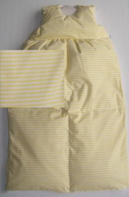 Odenwälder Daunen-Schlafsack Baby 1169 110 cm gelb gestreift