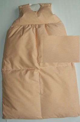Odenwälder Daunen-Schlafsack Baby 1169 110 cm apricot kariert