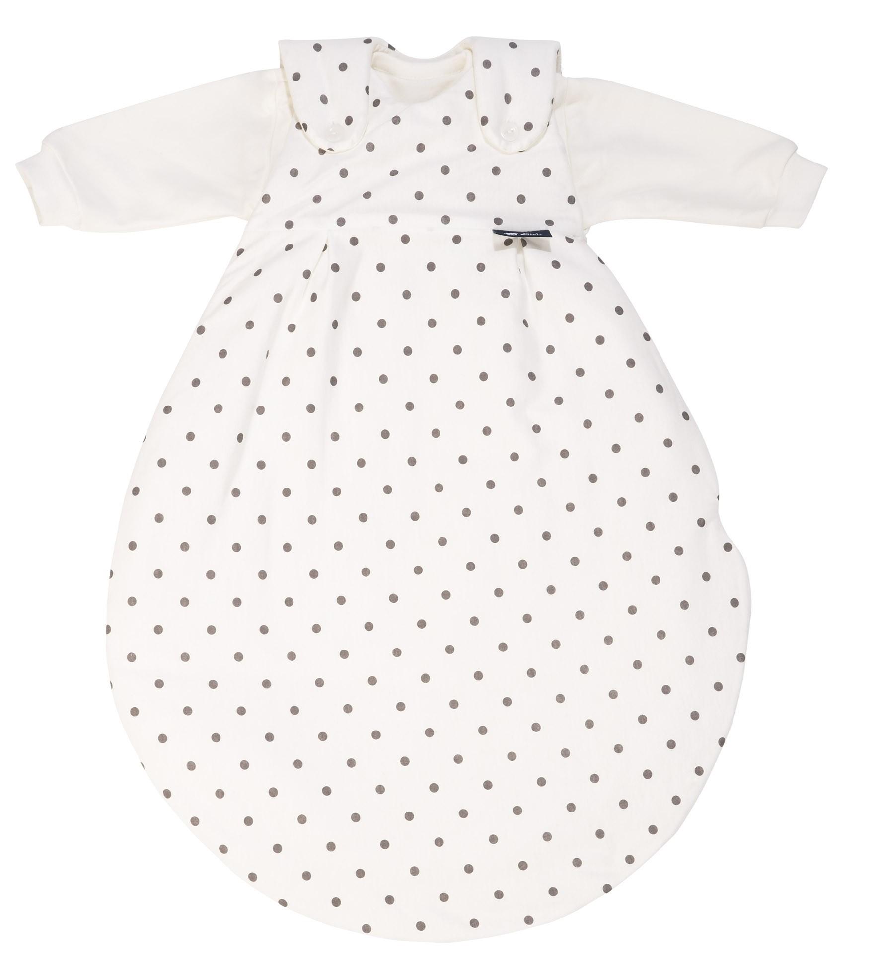 Alvi Baby Mäxchen Schlafsack 68/74 924-9  Dots grau