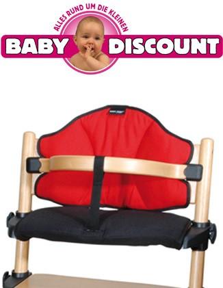 Baby Plus Sitzverkleinerer Treppenhochstuhl Hochstuhl TRX 7 rot schwarz