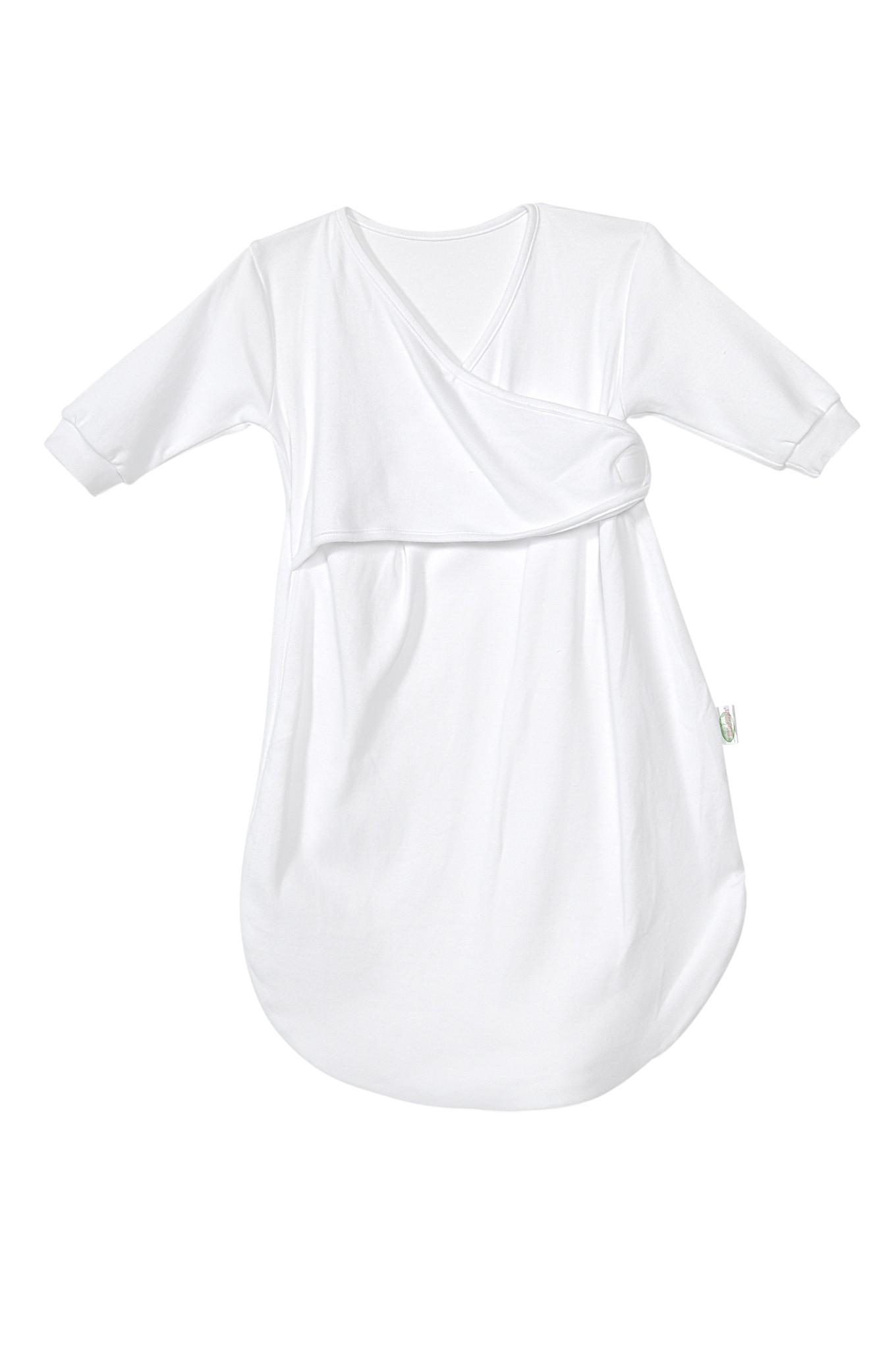 Odenwälder Jersey Unterzieh-Schlafsack Baby Gr. 74 cm weiß 1040