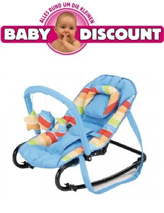 Baby Plus Baby Wippe Bella blau gestreift