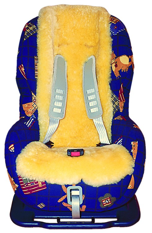 HEITMANN Baby Lammfell Kindersitzauflage gold-beige