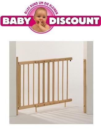 Baby Plus Türschutzgitter Buche schwenkbar 70-112 cm