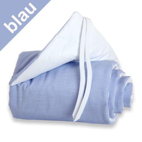 Babybay Nestchen blau/weiß für Beistellbett original
