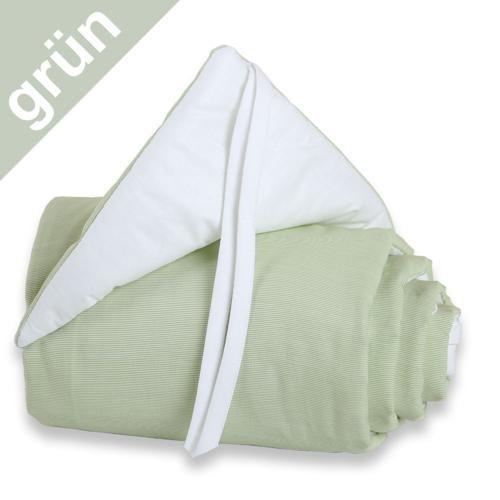 Babybay Nestchen grün/weiß für Beistellbett maxi