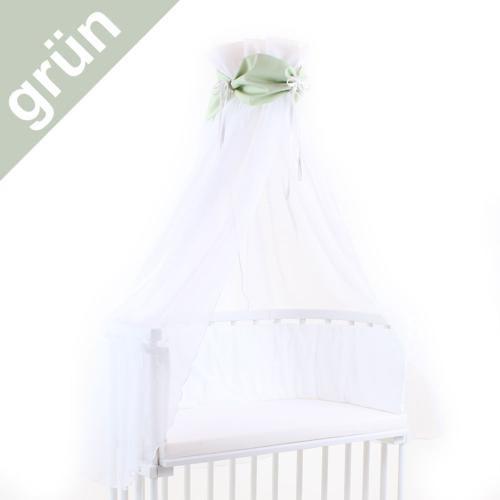 Babybay Himmel für Beistellbett grün/weiß