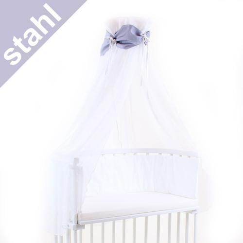 Babybay Himmel für Beistellbett stahl/weiß
