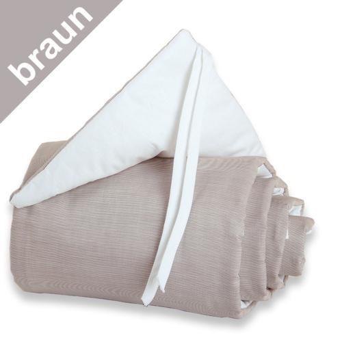 Babybay Nestchen braun/weiß für Beistellbett original