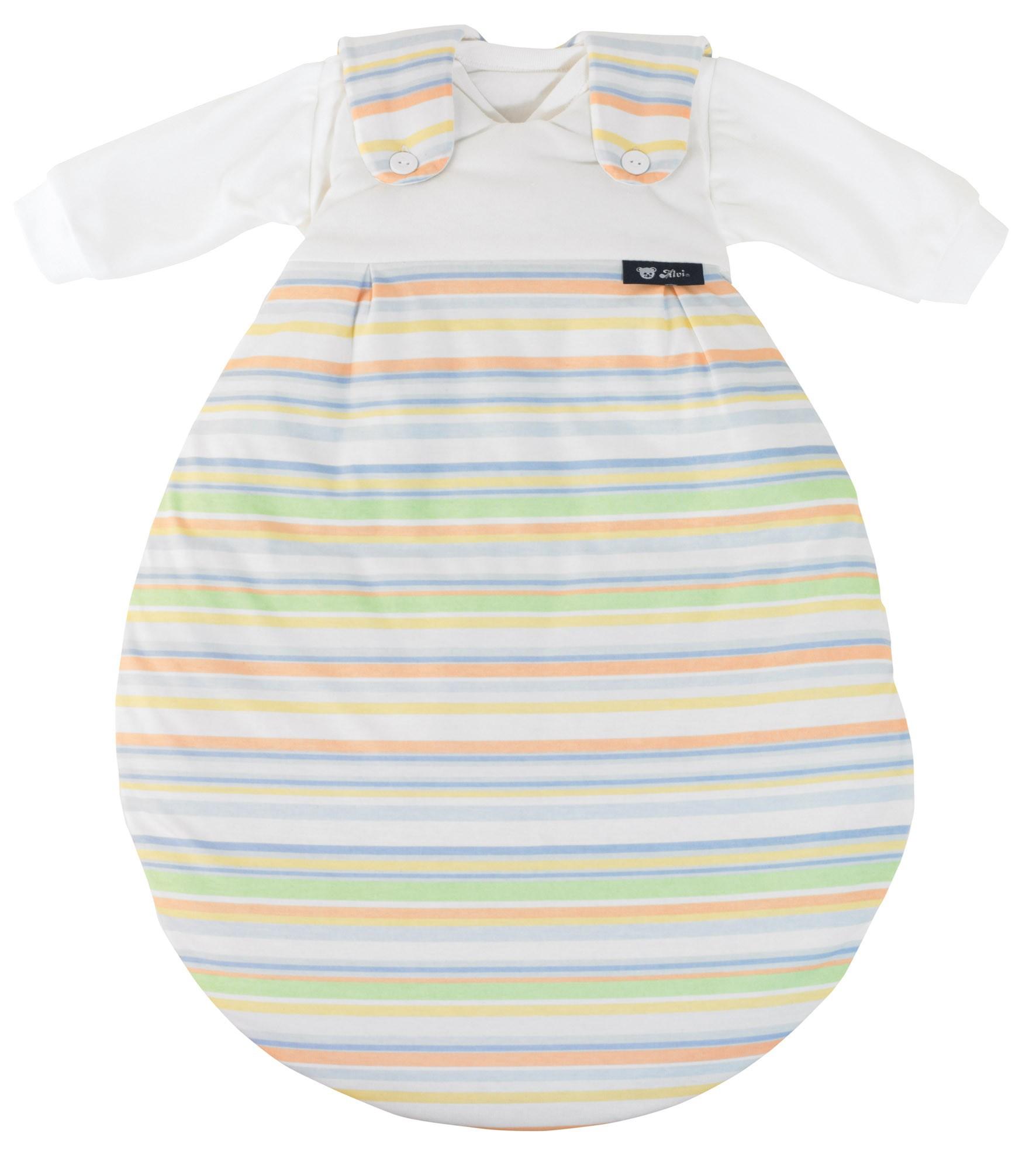Alvi Baby Mäxchen Außensack bunter Streifen blau Größe 56/62 118-0
