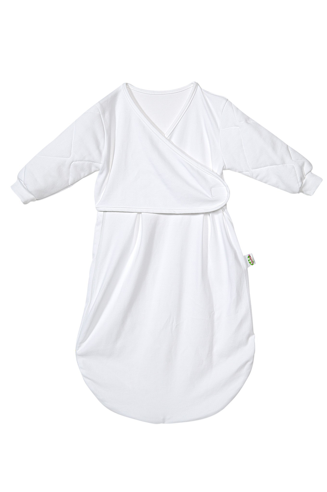 Odenwälder Jersey Unterzieh-Schlafsack Baby wattiert weiß 1070