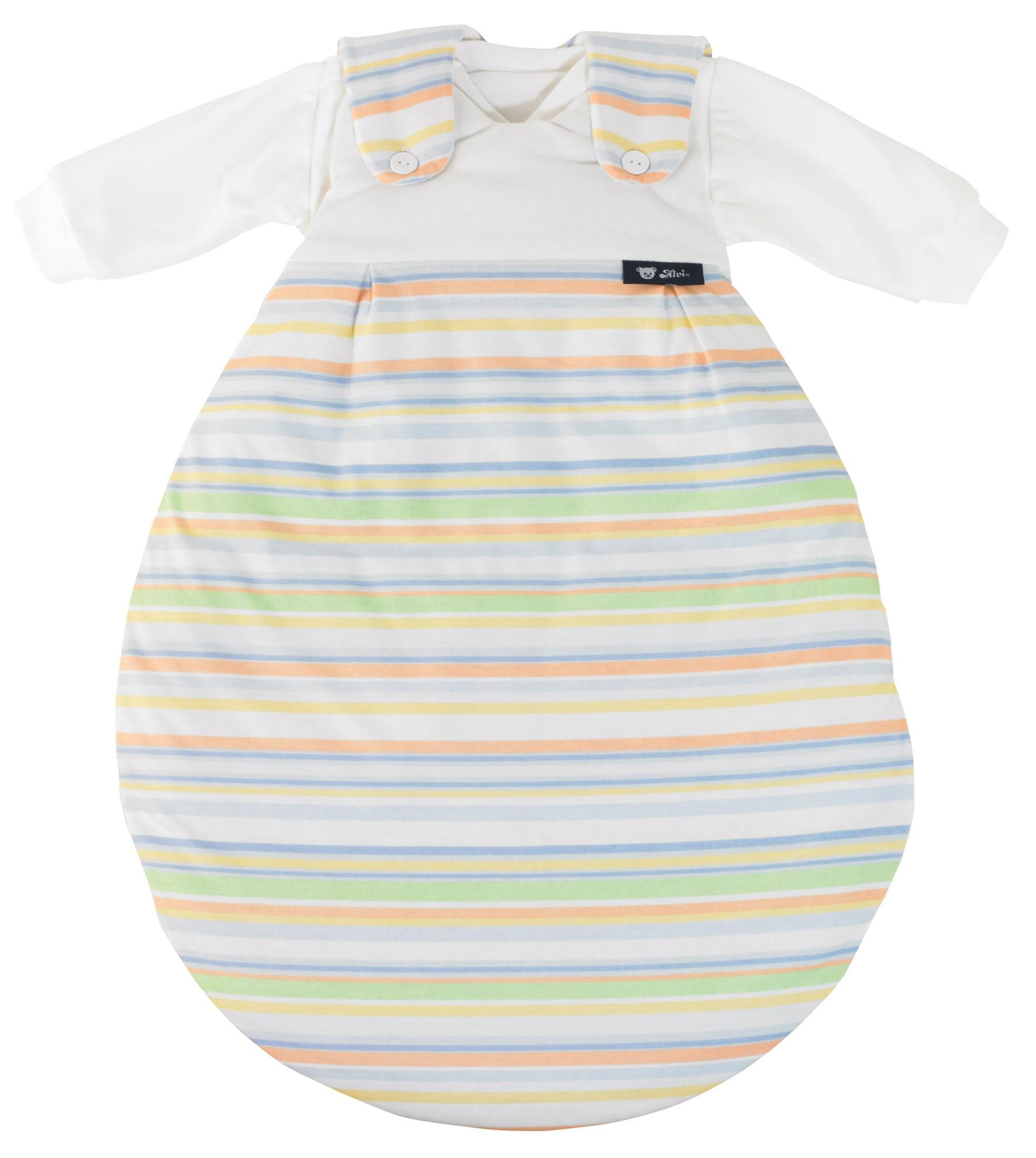 Alvi Baby Mäxchen Außensack bunter Streifen blau Größe 62/68 118-0