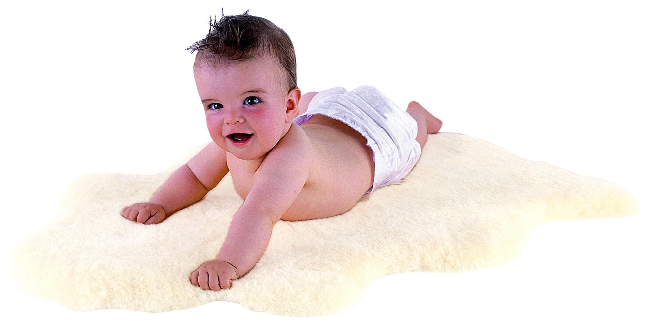 KAISER Babylammfell weiß 80-90 cm