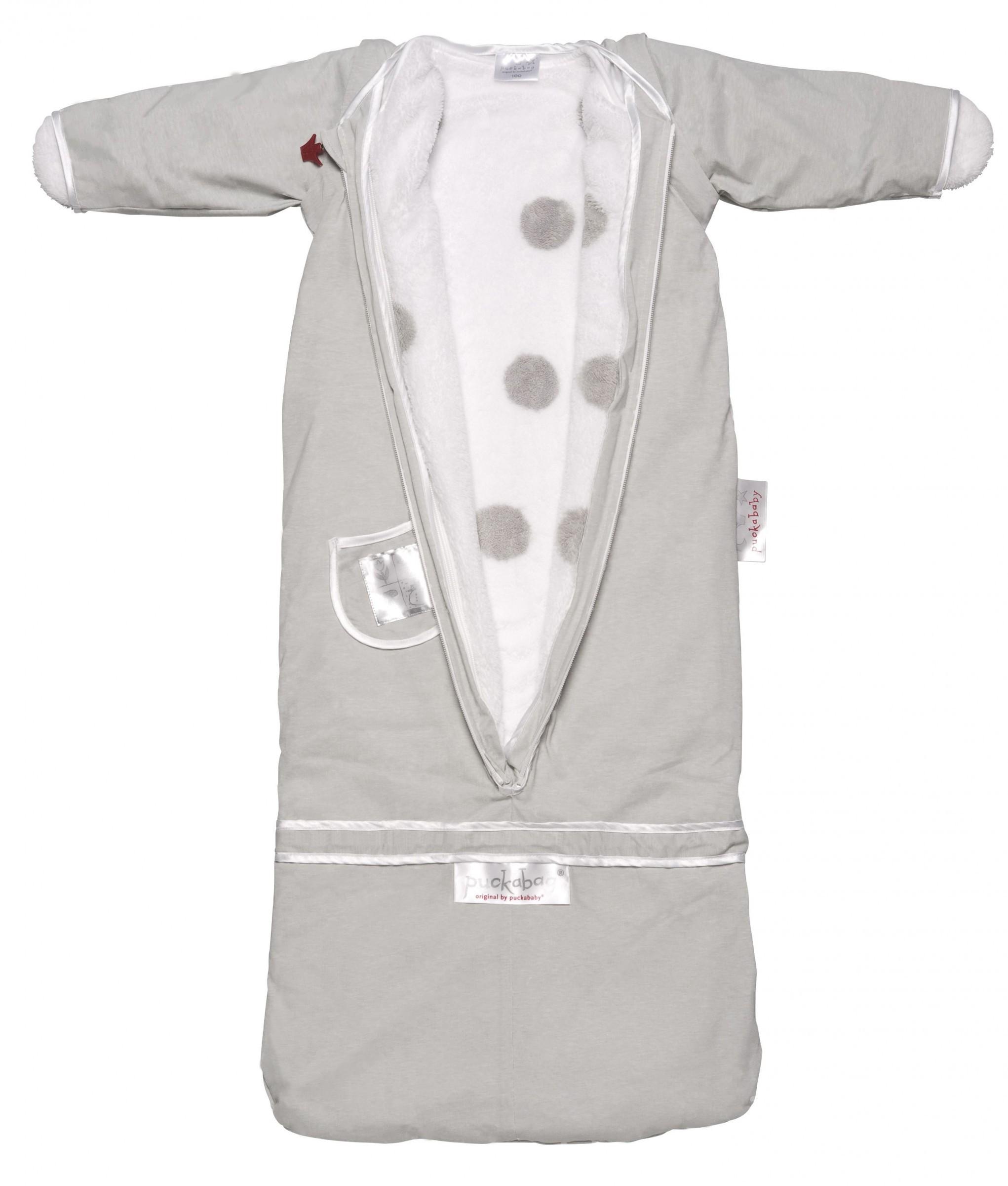 Puckababy Schlafsack The Bag 4-seasons grey uni/white