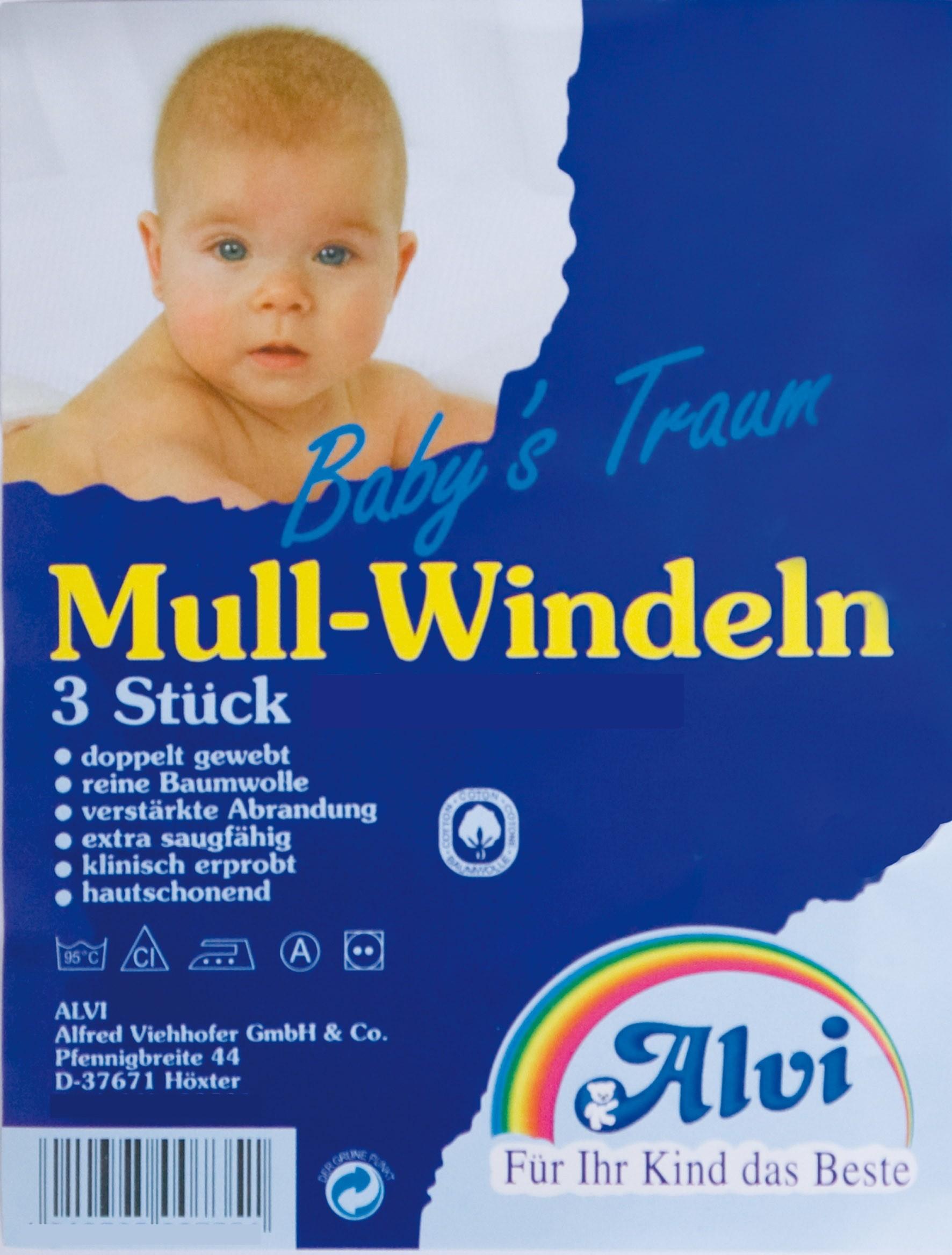 Alvi Mull-Windeln Komfort 80 x 80 cm, 3-er Pack