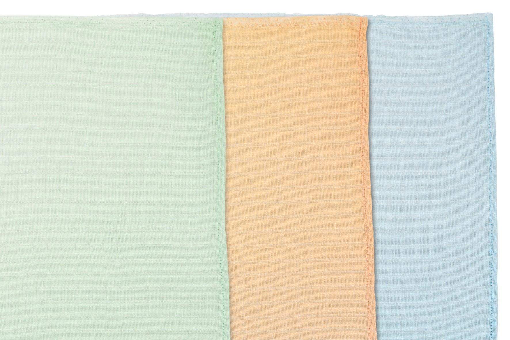 Alvi Mull-Windeln uni farbig 3-er Pack 70 x 70 cm