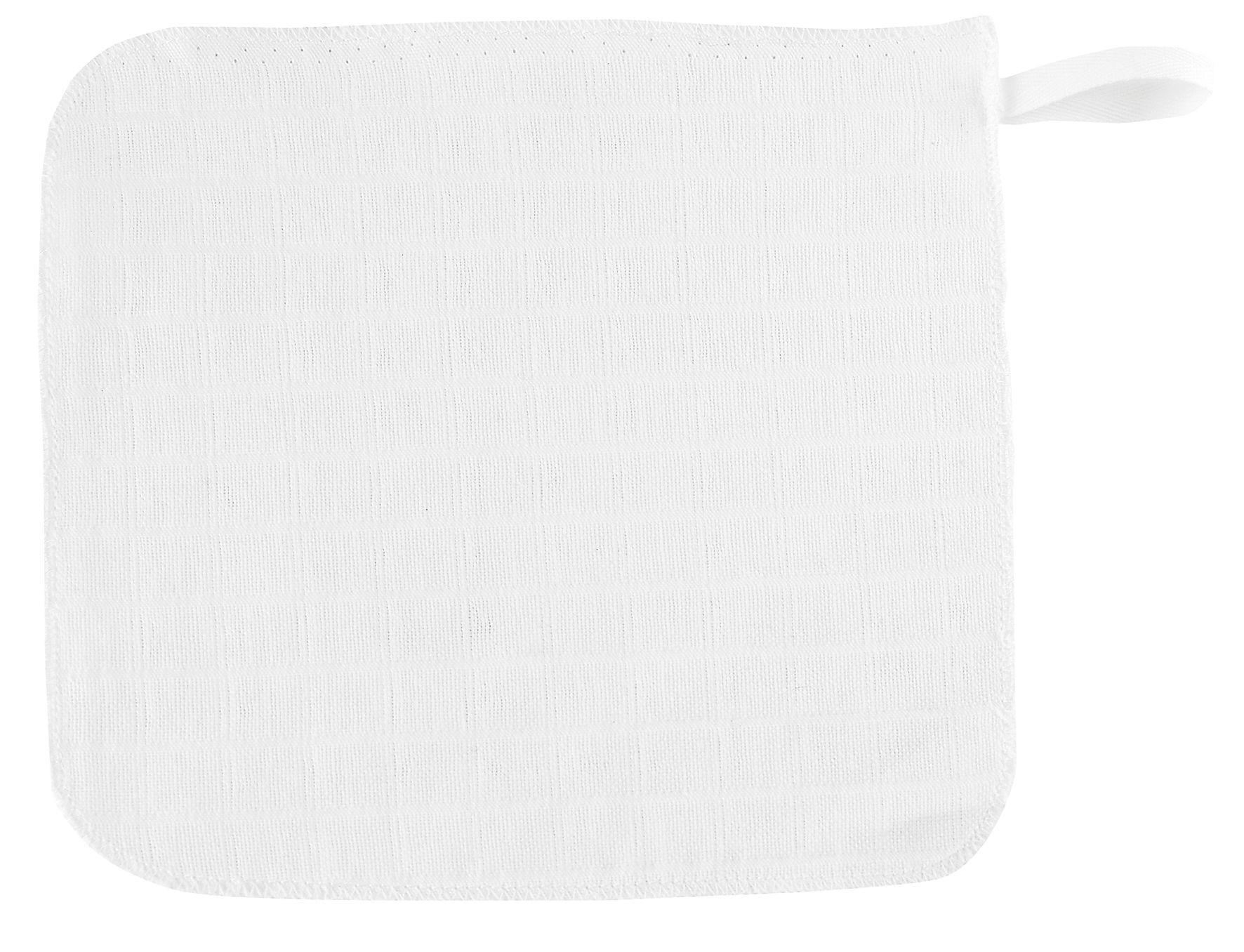 Alvi Mull-Waschlappen 3-er Pack weiß