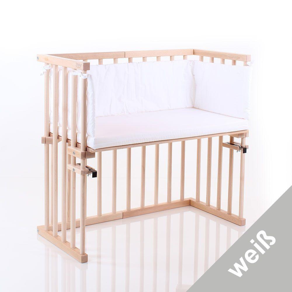 Babybay Set Standard Matratze+Nestchen für Beistellbett midi weiß