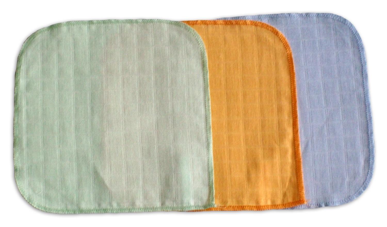 Alvi Mull-Waschlappen 3-er Pack farbig