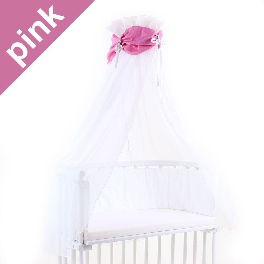 Babybay Himmel für Beistellbett pink/weiß