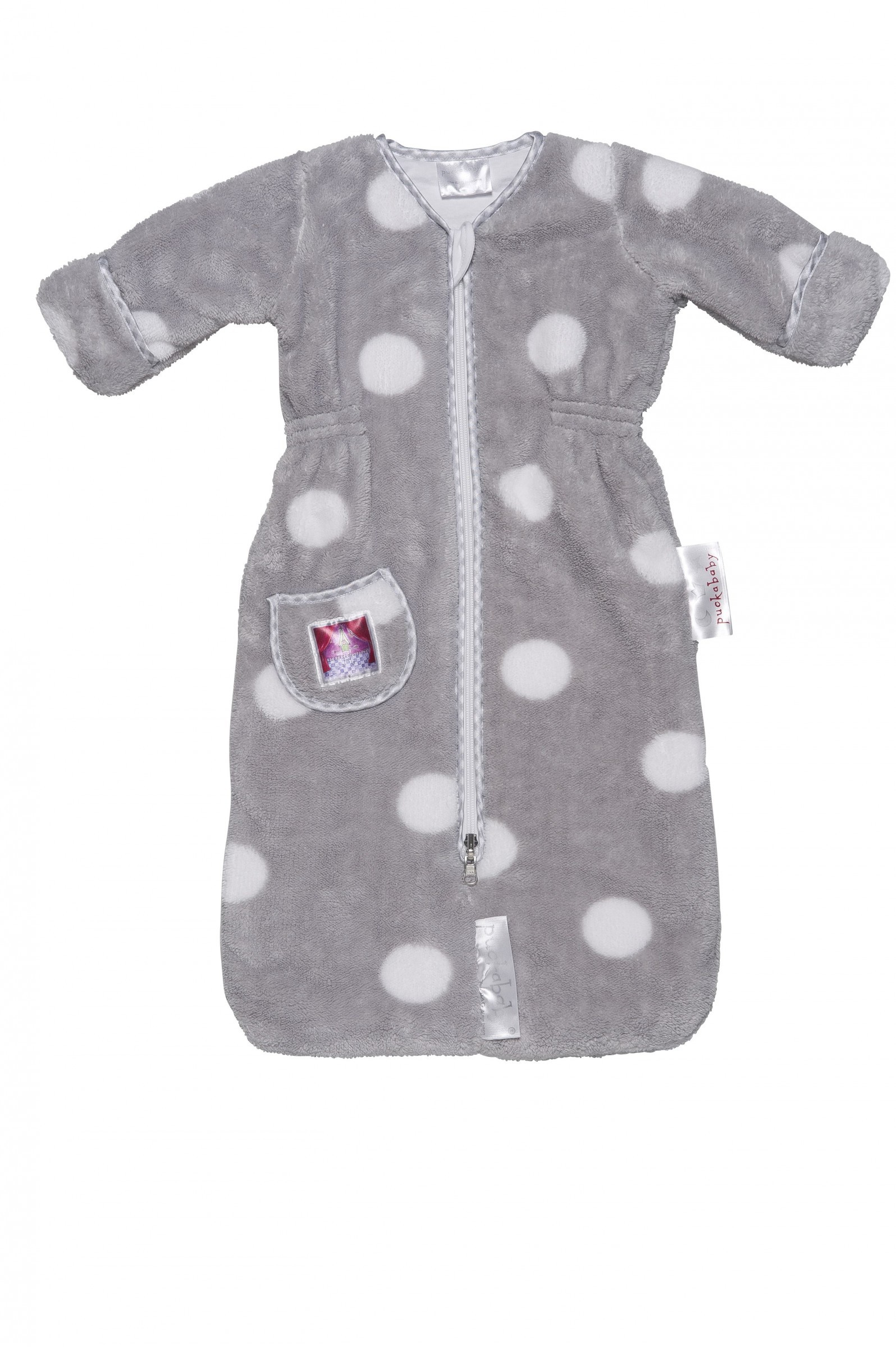 Puckababy Schlafsack The Bag Newborn Teddy grey