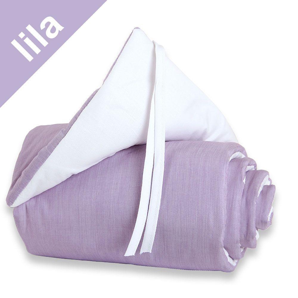 Babybay Nestchen lila/weiß für Beistellbett original