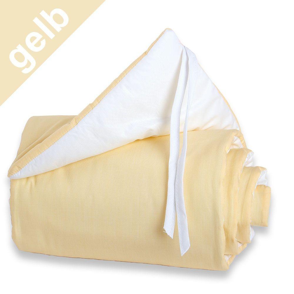 Babybay Nestchen gelb/weiß für Beistellbett maxi