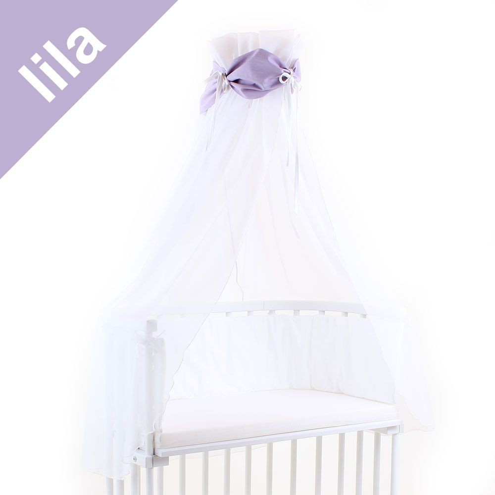 Babybay Himmel für Beistellbett lila/weiß