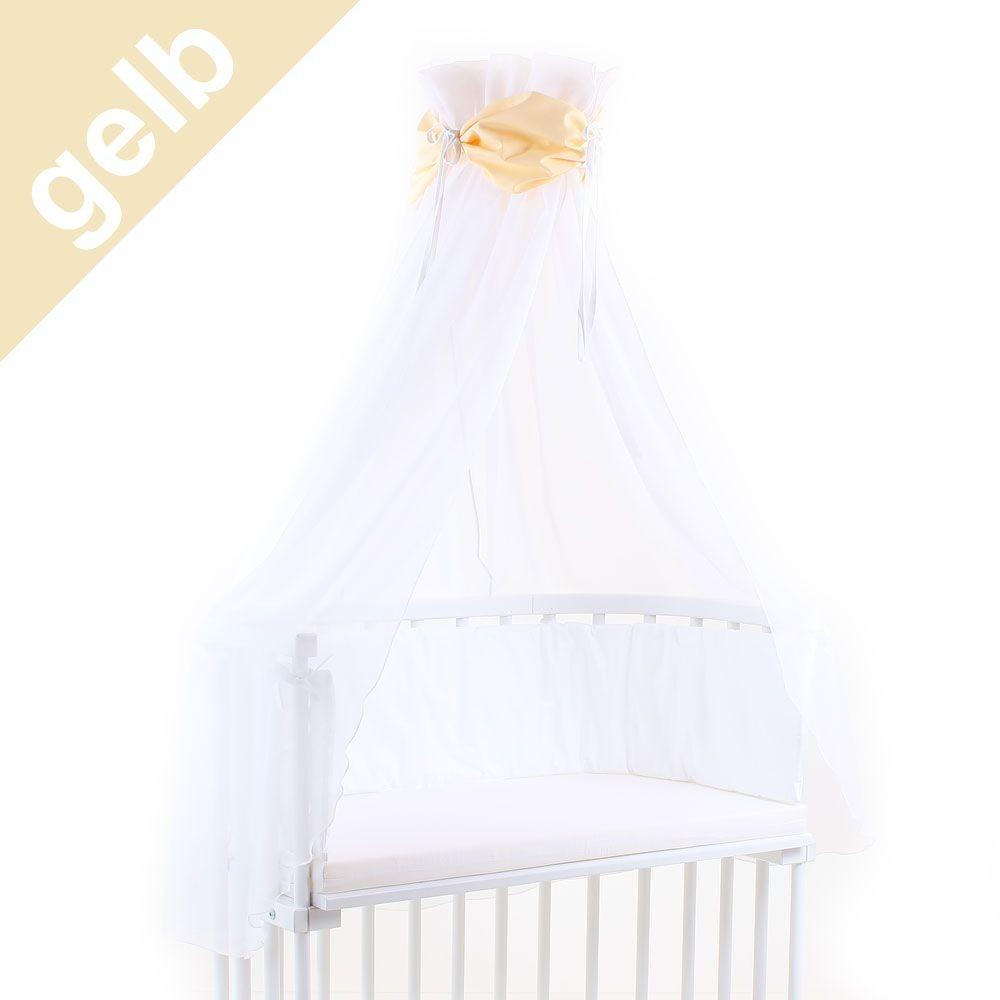 Babybay Himmel für Beistellbett gelb/weiß