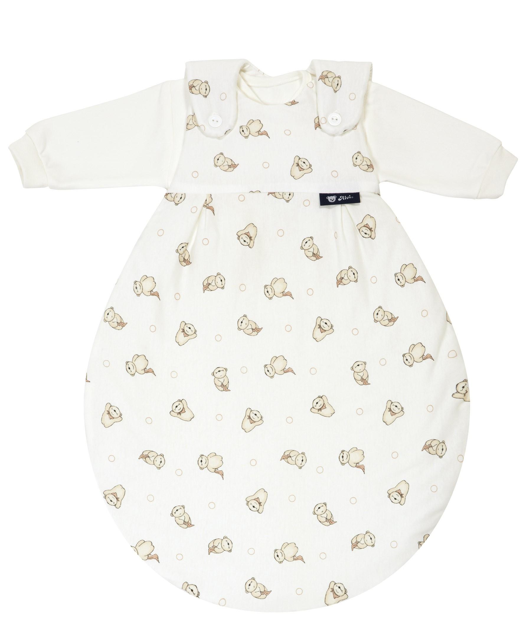 Alvi Baby Mäxchen Außensack 241-6 Schnuffelbär beige