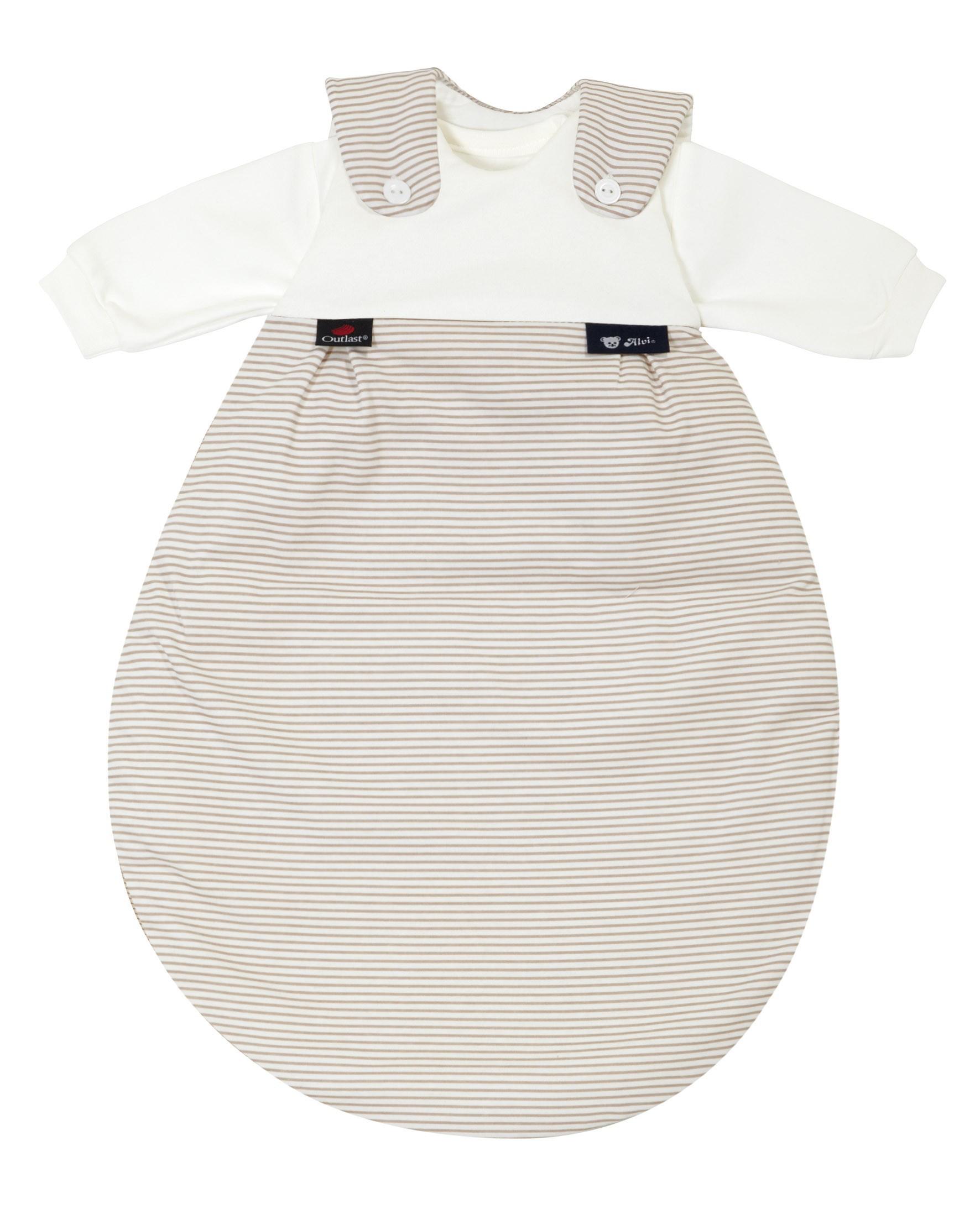Alvi Baby Mäxchen Outlast Schlafsack 111-6 Streifen beige