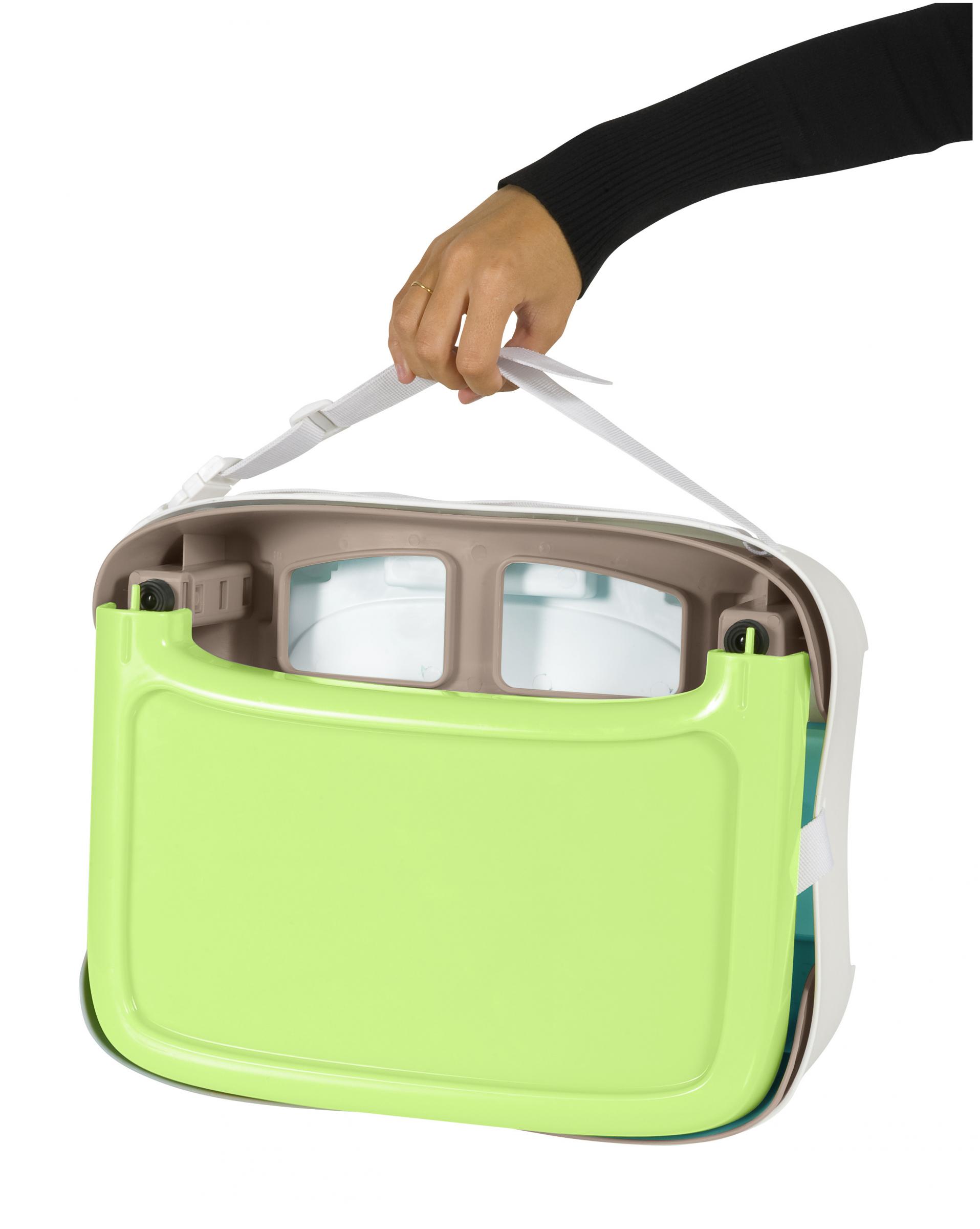 Babymoov Kompakte Sitzerhöhung braun/mandelgrün