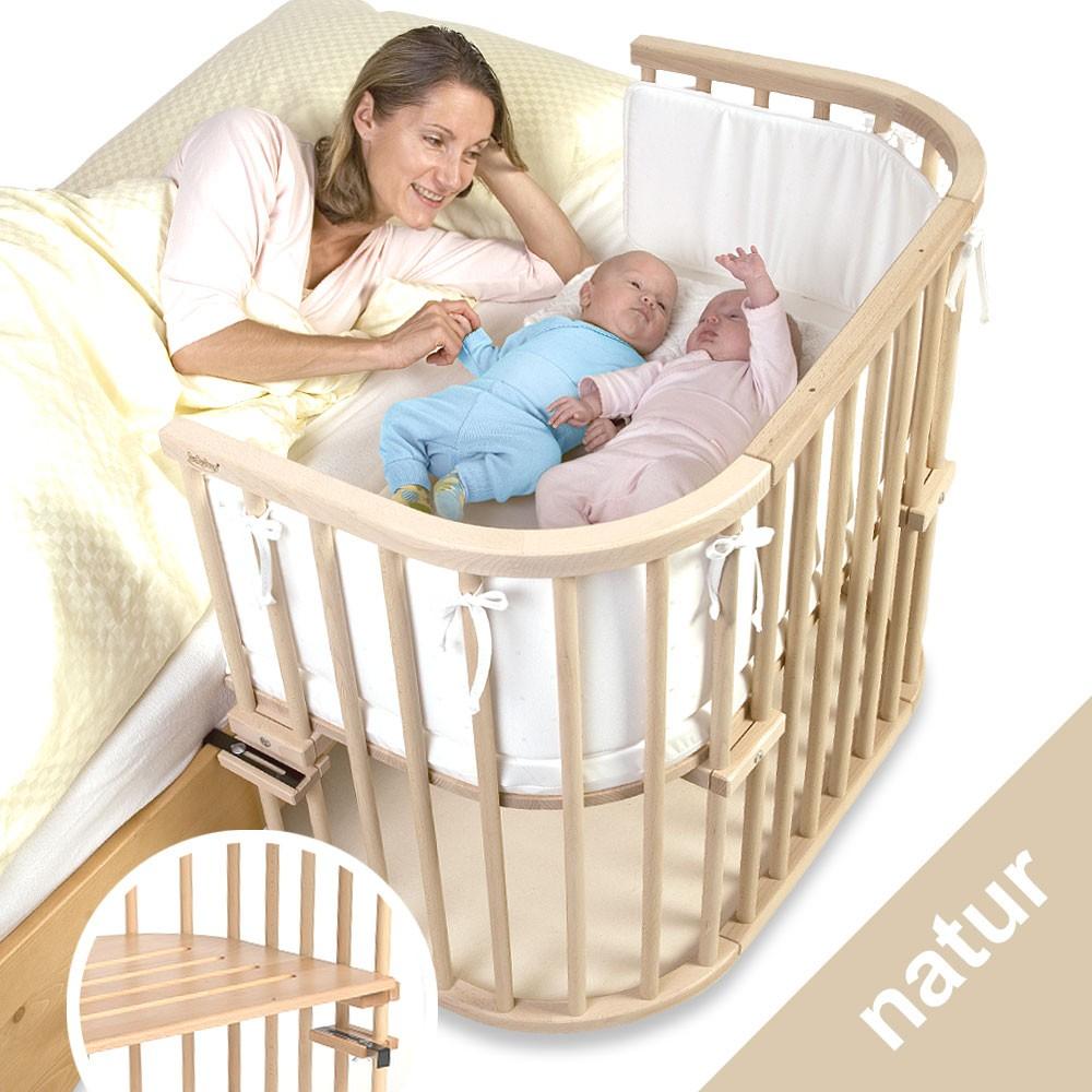 BabyBay Beistellbett Maxi Natur extra belüftet