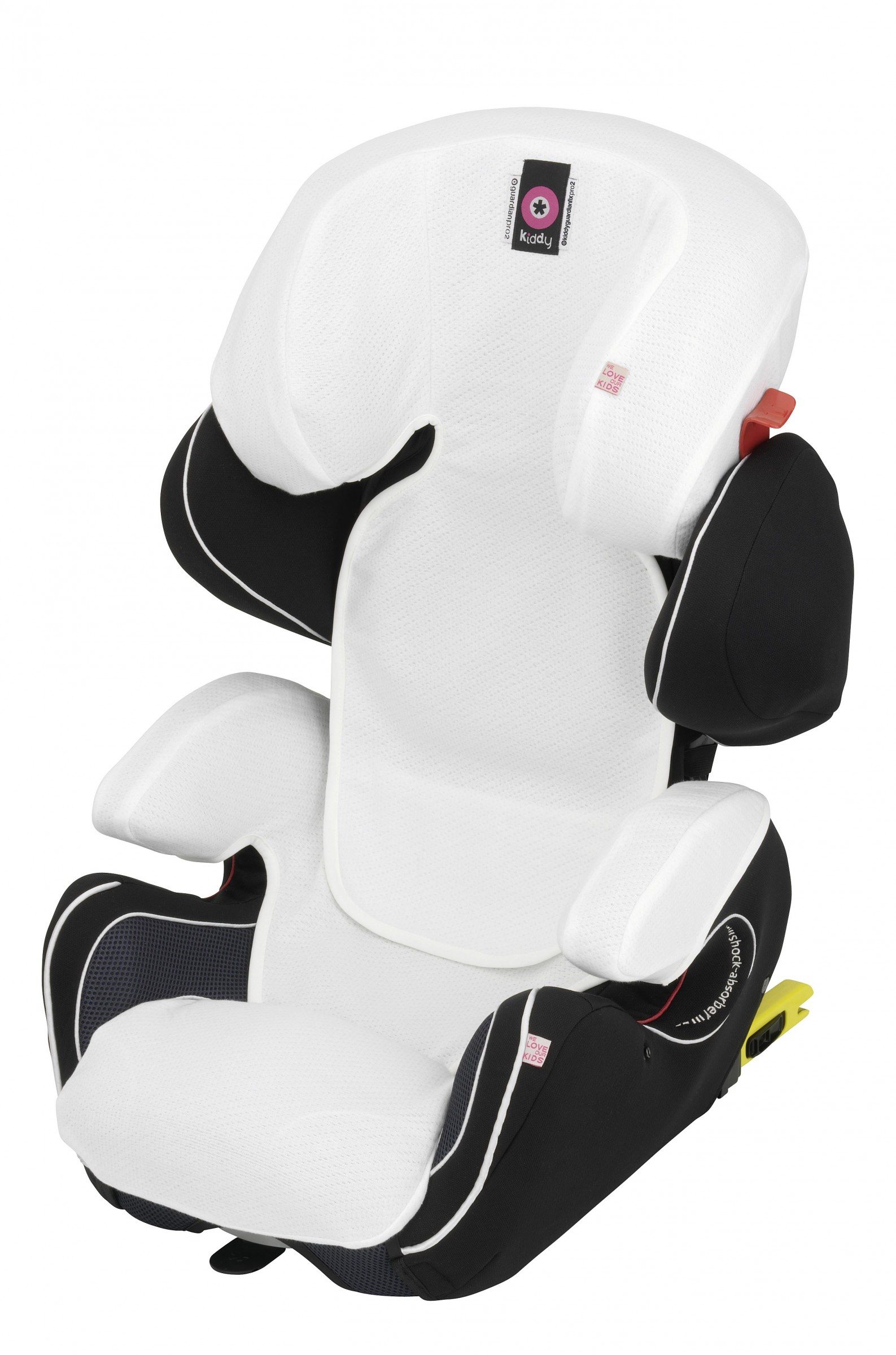 Kiddy becool Sommerbezug weiß für kiddy Guardian Pro 2 / Guardianfix mit Leg Extension