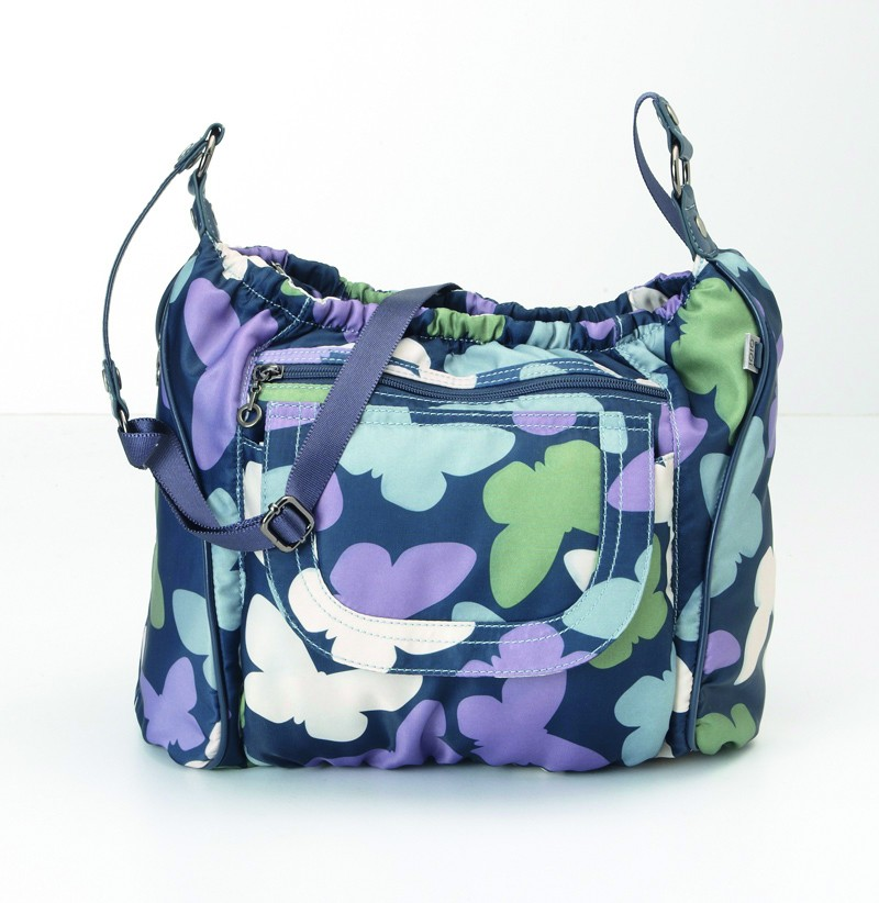 Wickeltasche OiOi Across Body Butterfly with Navy & Lillac