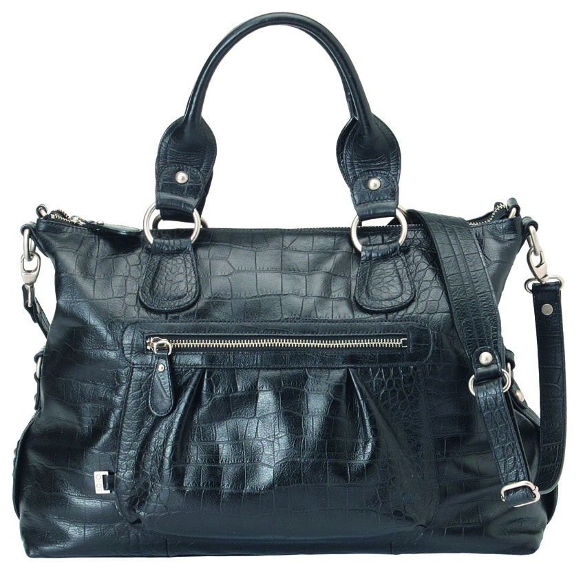 Wickeltasche OiOi Tote Slouch Iguana Black Leather