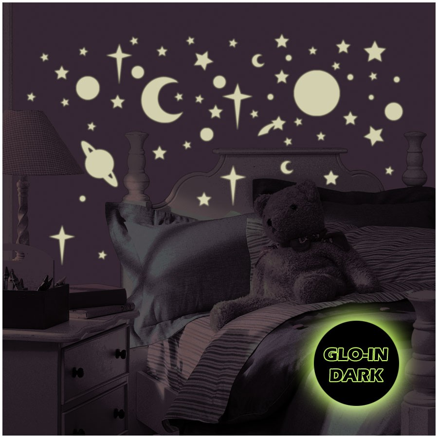 RoomMates Wandsticker Celestial nachtleuchtend
