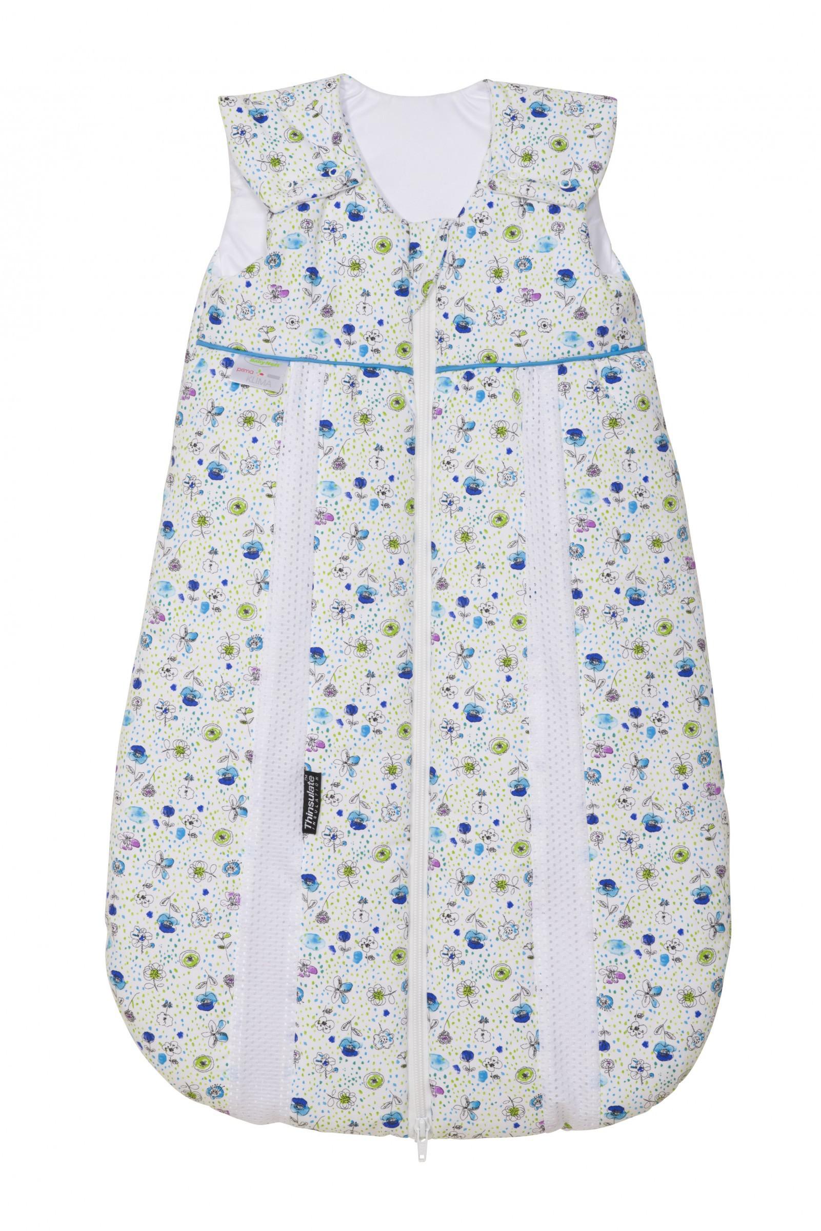 Odenwälder Baby-Schlafsack Thinsulate Flower blau
