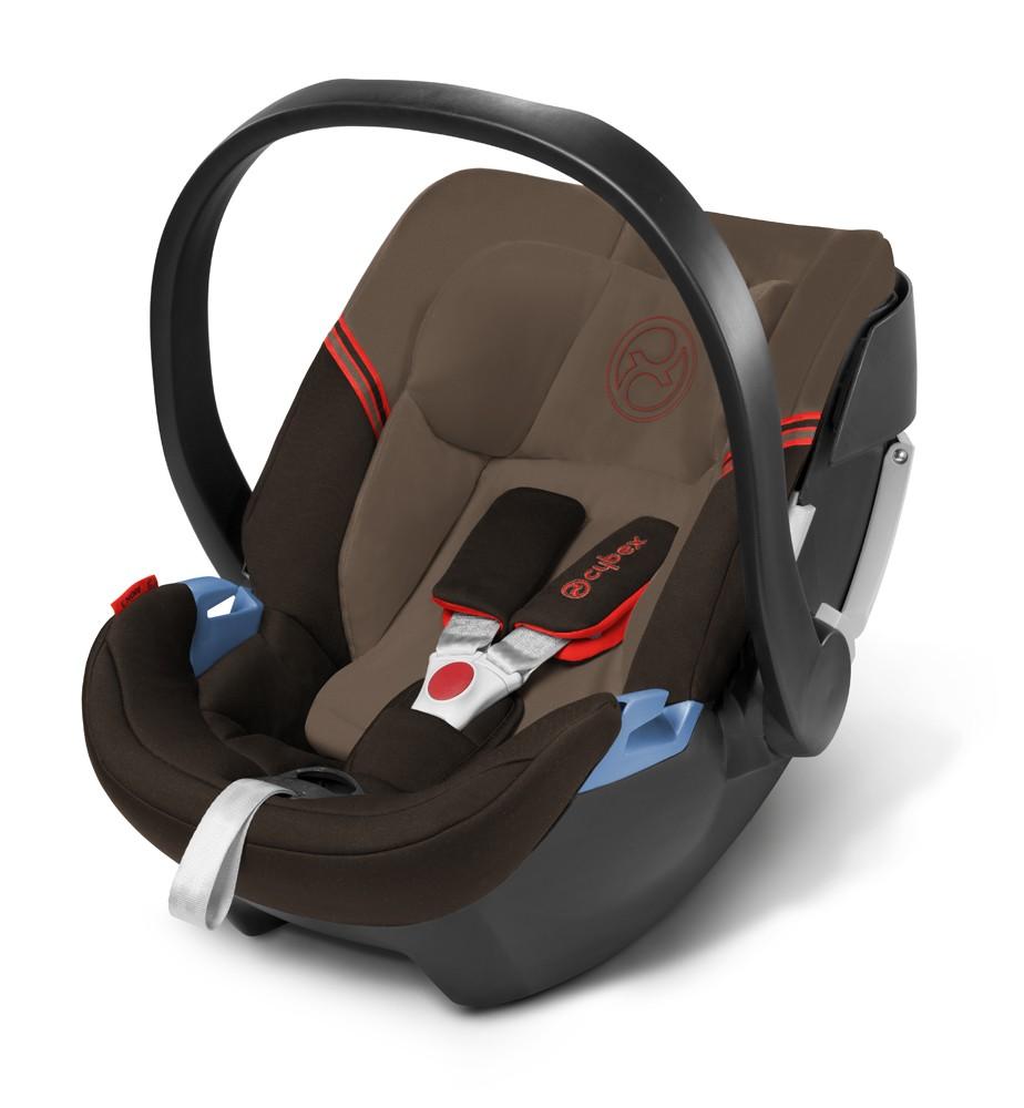 Cybex Aton 3 Kinderautositz Mahagony