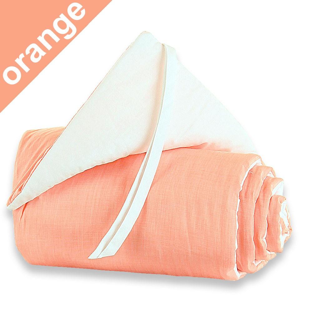 Babybay Nestchen orange/weiss für Beistellbett original