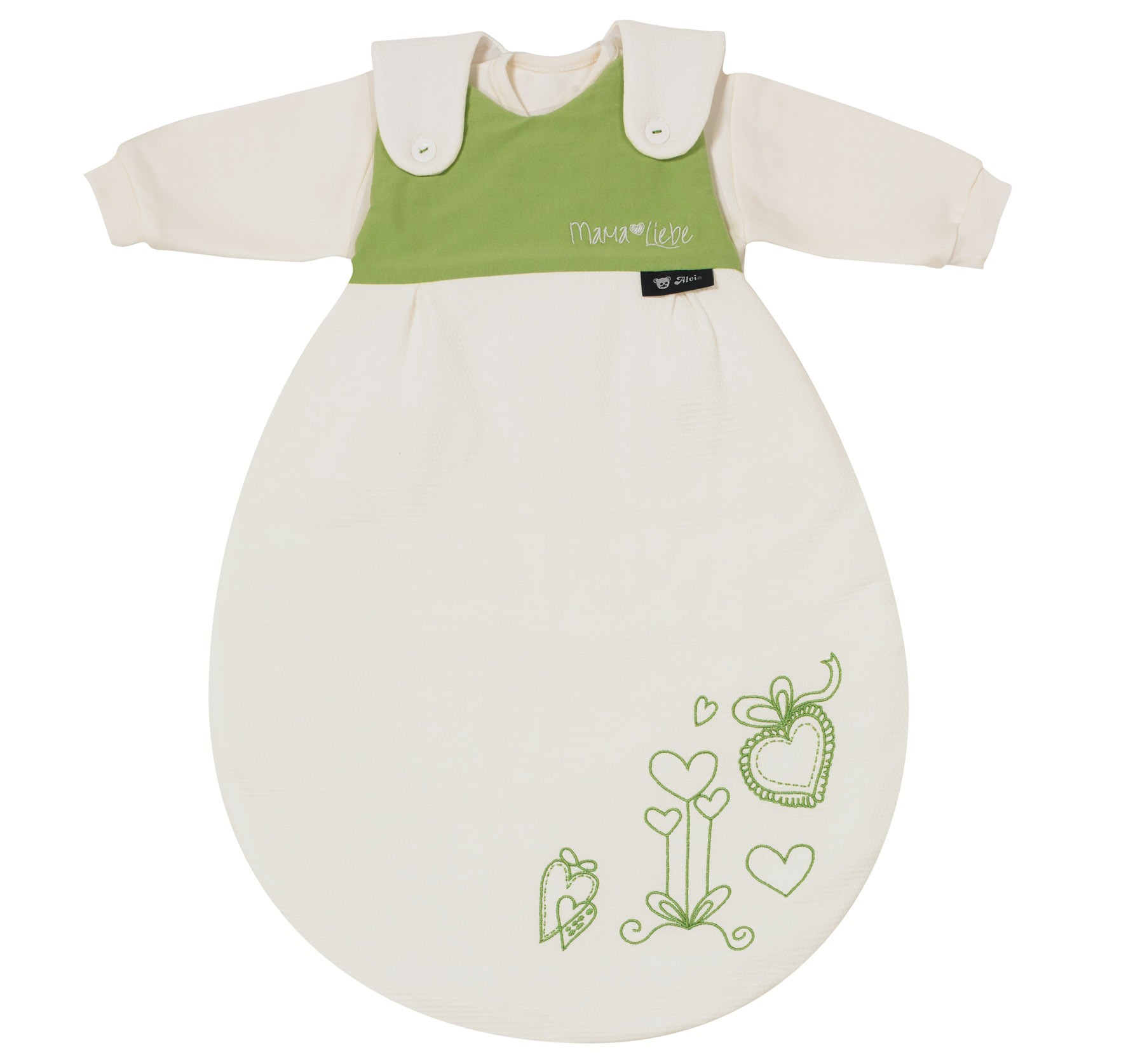 Alvi Baby Mäxchen 3tlg. Mama Liebe grün