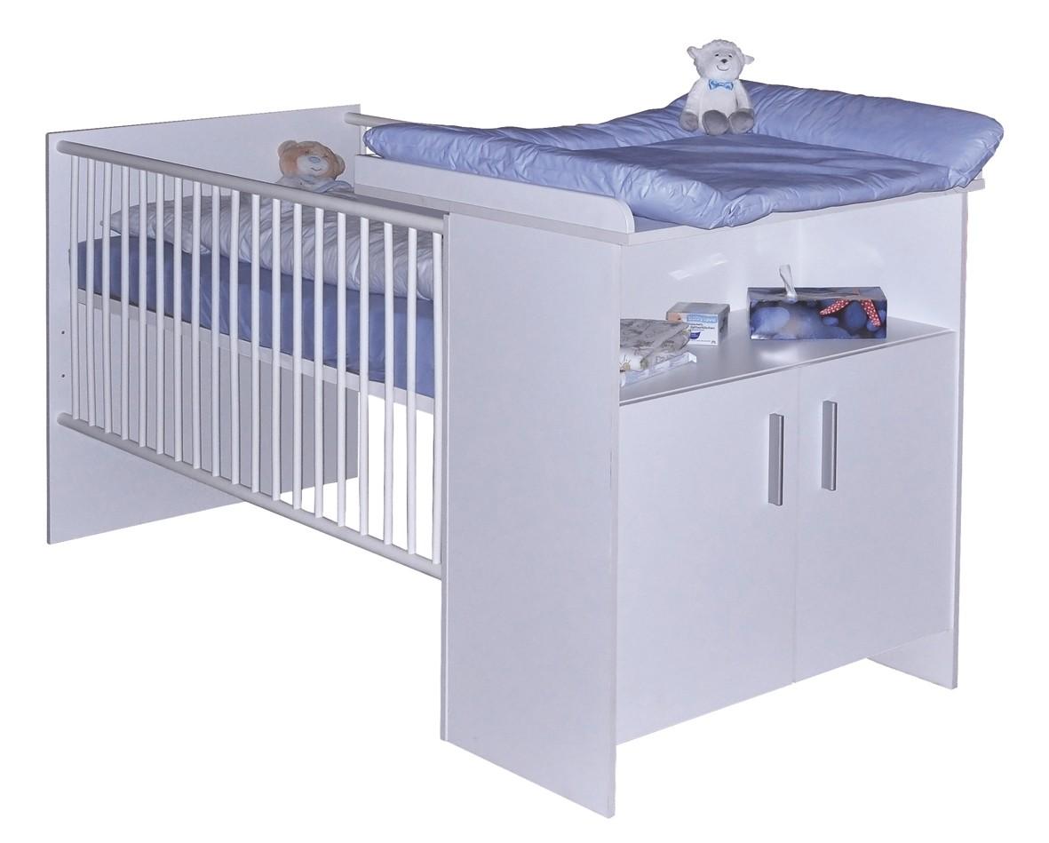 BABY-PLUS BENNO Bett mit Wiko, Weiss-matt