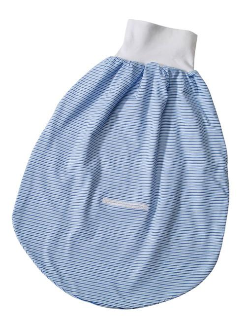 EASYBABY Strampelsack Jersey, Streifen blau