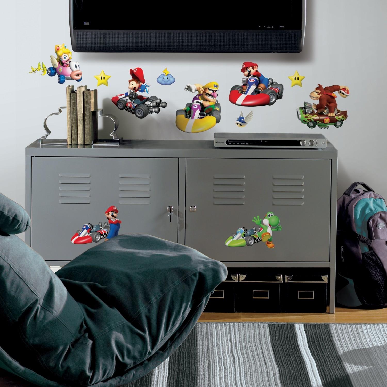 RoomMates Wandsticker Nintendo Mario Kart