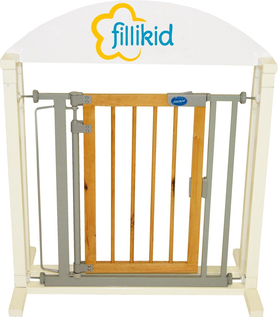 Fillikid Türschutzgitter Auto-Close Wooden 55240
